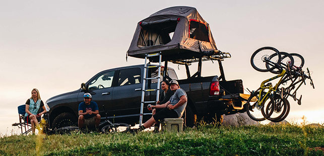 Yakima Lifestyle vertical hanging rack roof tent