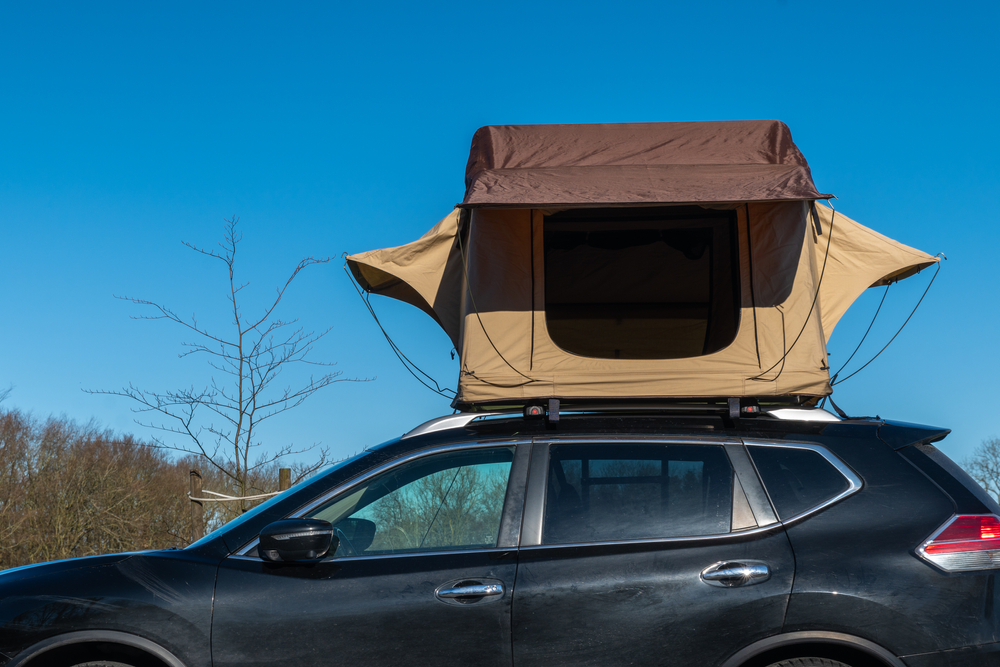 The type of roof rack you need for a rooftop tent